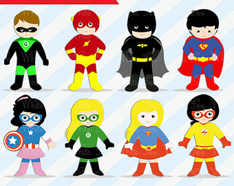 50% OFF SALE Superheroes Clipart / Perso-50% OFF SALE Superheroes Clipart / Personal and Commercial Use / 1 FREE Superhero /-1