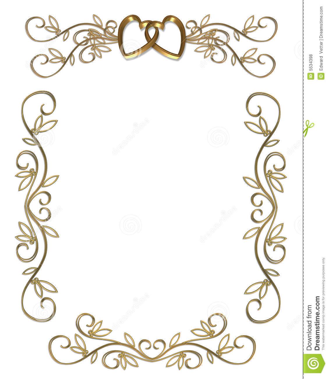 50th Anniversary Border Clip Art Free Invitation Gold Border