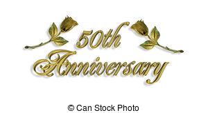 50th Anniversary Invitation G - 50th Anniversary Clipart