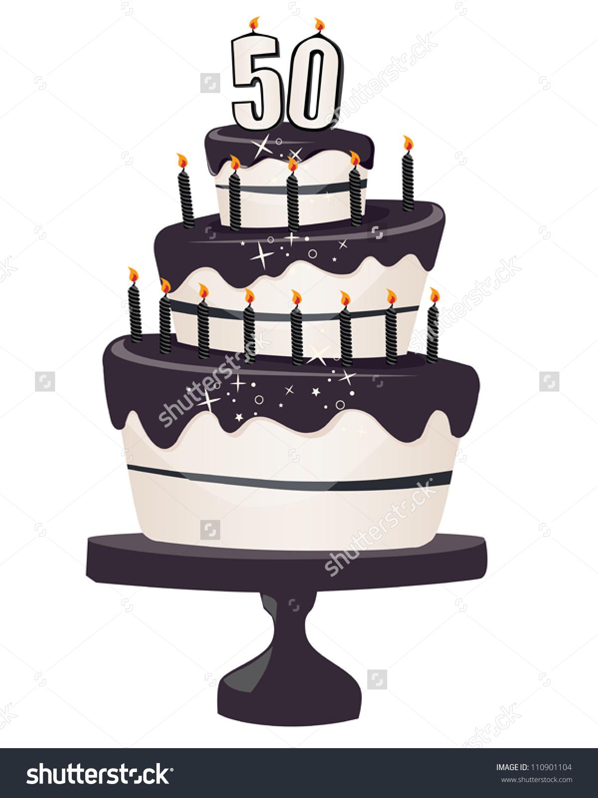 50th birthday cake clipart-50th birthday cake clipart-14