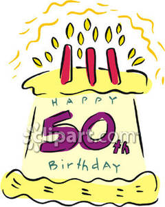 50th Birthday Clip Art. 50th Birthday Cake Free .