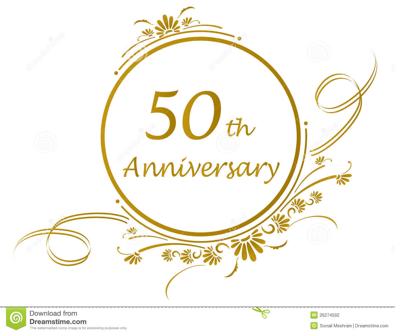 50th Or Golden Anniversary Of A Marriage-50th Or Golden Anniversary Of A Marriage Or Business Vector Available-11
