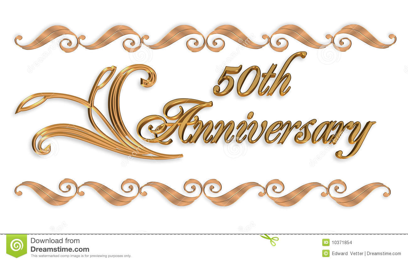 50th Wedding Anniversary Clip - 50th Anniversary Clipart