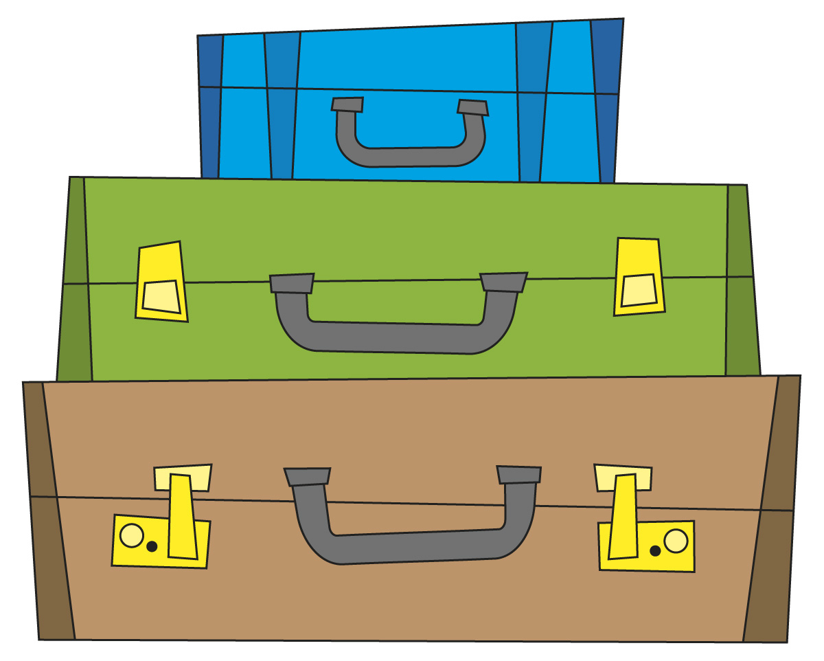 51ea2a6b7c4fc744ab832fb9187e6 - Clip Art Suitcase