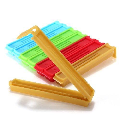 5Pcs Colorful Assorted Colors Home Kitch-5Pcs Colorful Assorted Colors Home Kitchen Food Snacks Chips Plastic Bag Seal Sealing Clip Clamp Sealer-4