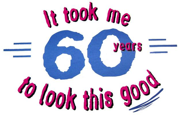 60th Birthday Cartoon Clipart