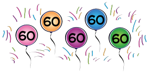 60th Birthday Clip Art