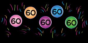 60th Birthday Clip Art