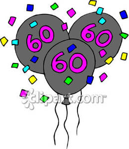 60th Birthday Clip Art Free