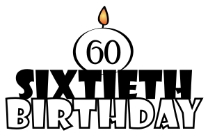 60th Birthday Clip Art Male