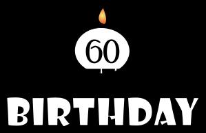 60th Birthday Clip Art Male