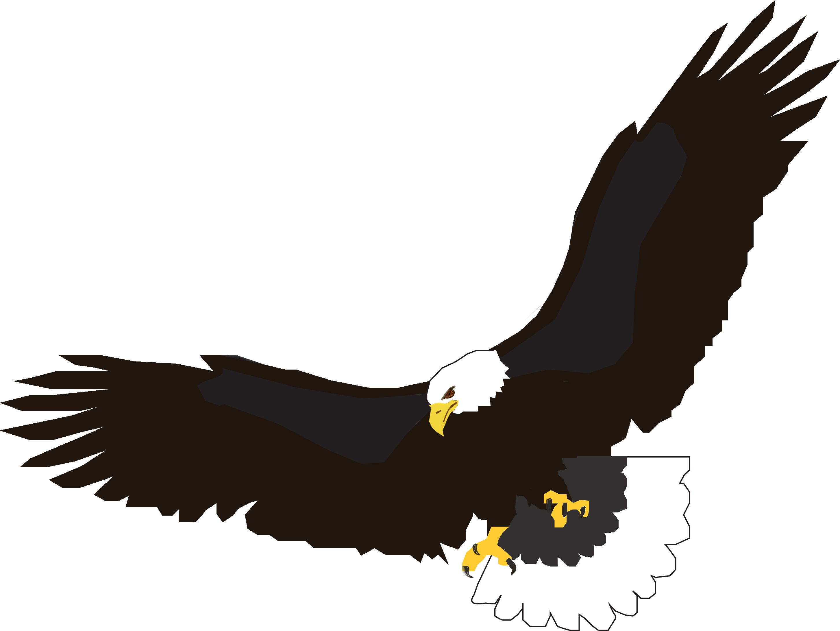 Flying Eagle Clipart