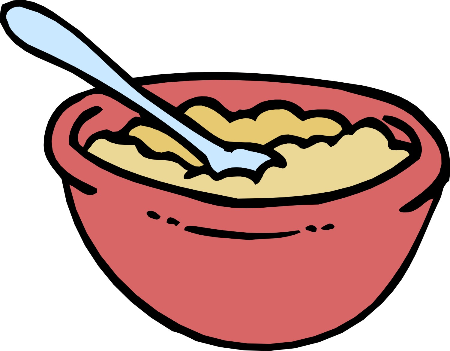 Bowl Of Cereal Clipart