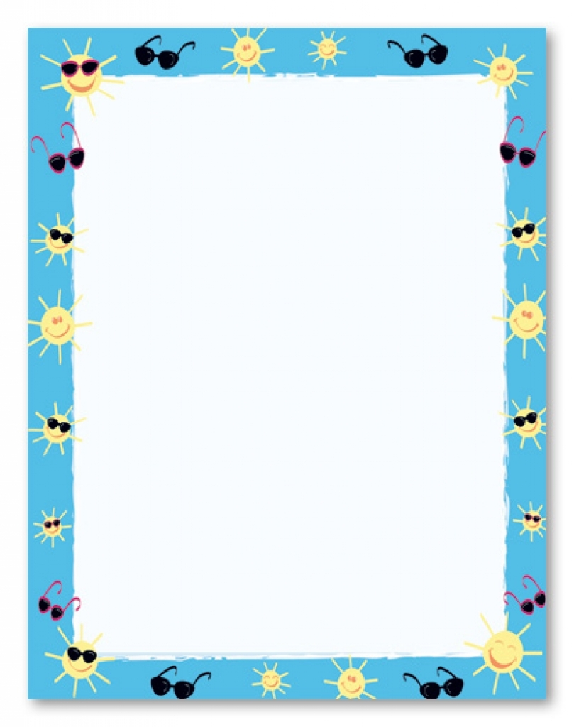 7 best images of free printable summer b-7 best images of free printable summer borders free cute throughout summer page border clipart summer page border clipart-16