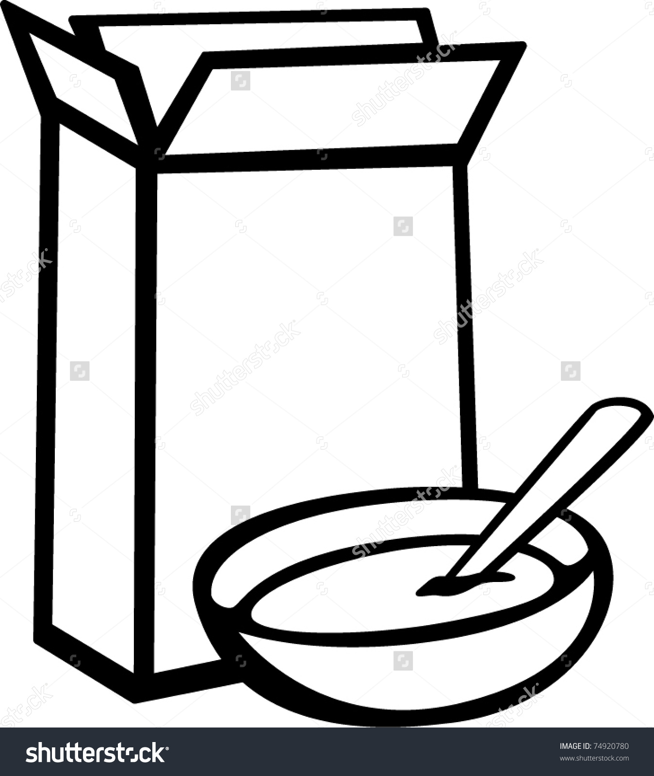 #7 Cereal Box Clip Art And ..