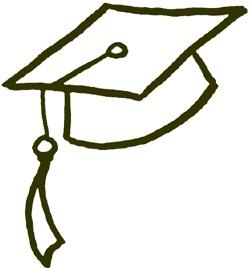 Graduation Hats Clip Art