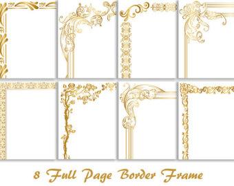 8 Gold Digital Full Page Border Clip Art Gold Full Page Frame Clipart Frame Clip Art Gold Page Frame Clipart Gold Page Border Clip Art 0114
