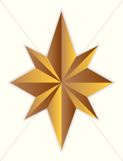 8 Point Gold Star-8 Point Gold Star-1