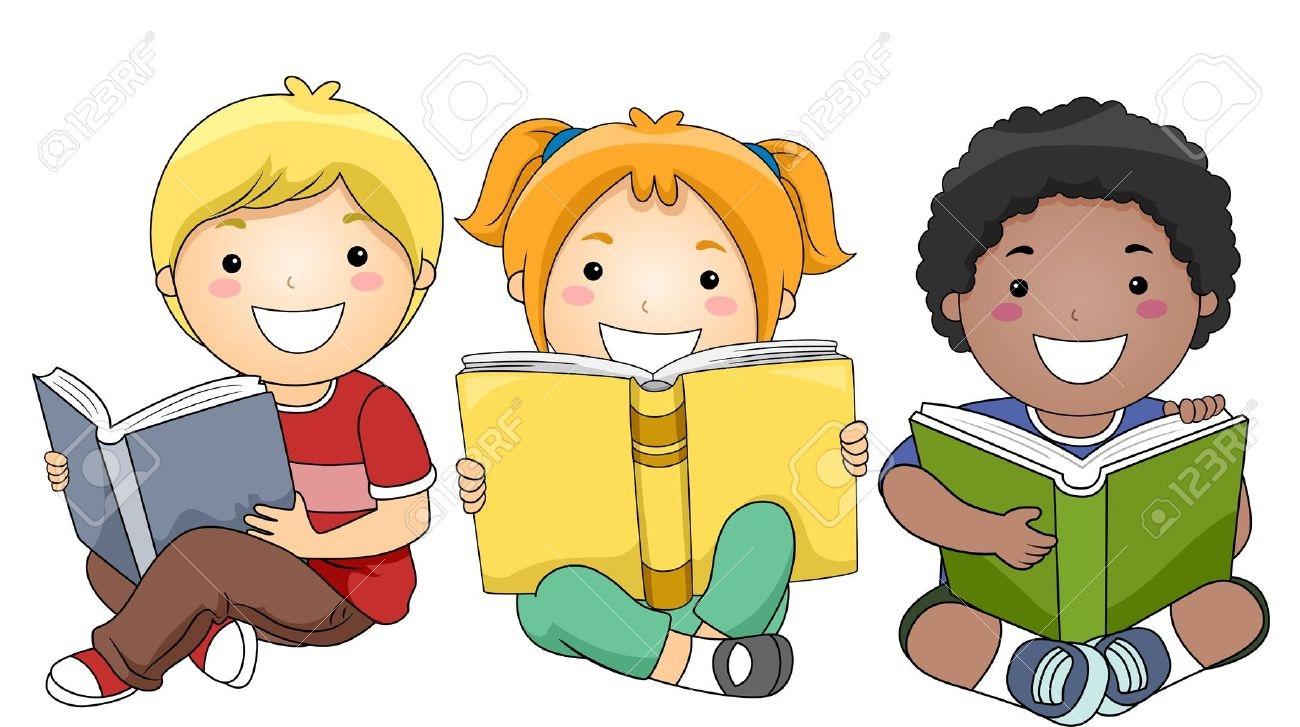 Children Reading Clipart