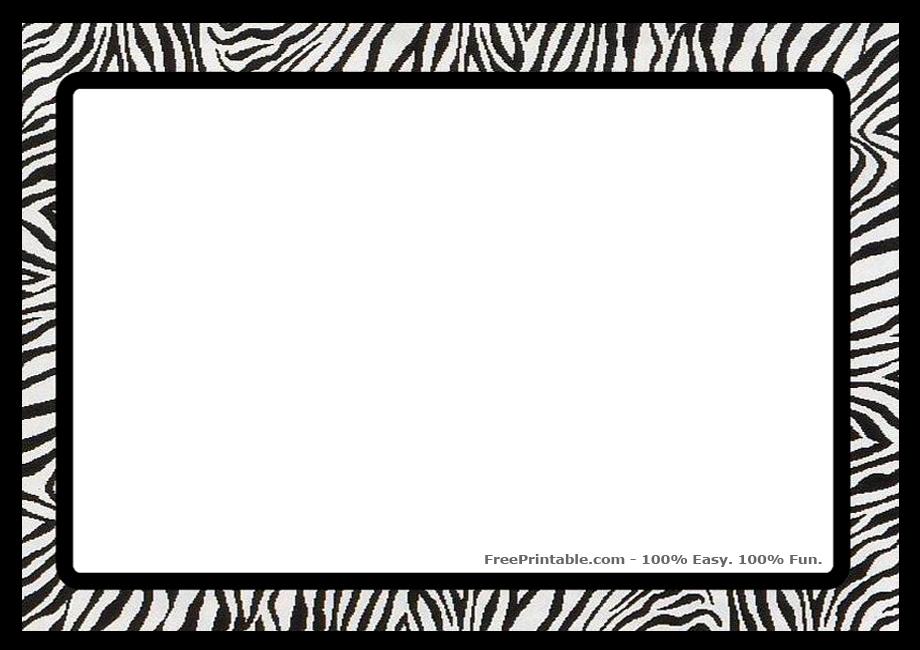 920 X 650 183 Kb Jpeg Zebra Print Border Clip Art Free