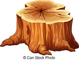 ... A big tree stump - Illustration of a big tree stump on a.