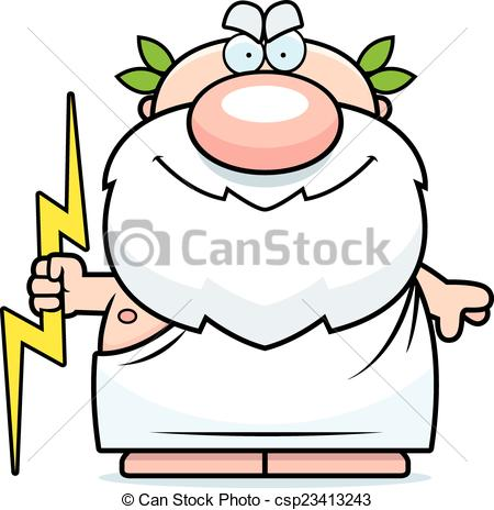 A cartoon illustration of Zeu - Zeus Clip Art