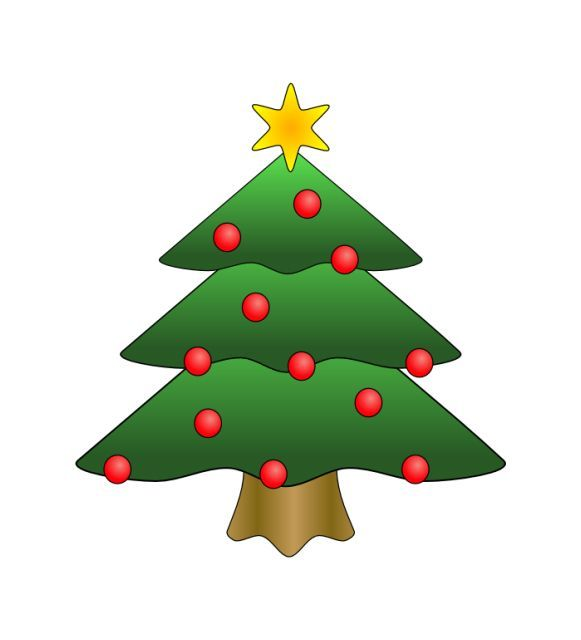 A Christmas Tree With Red Bulbs And A St-A Christmas tree with red bulbs and a star-1