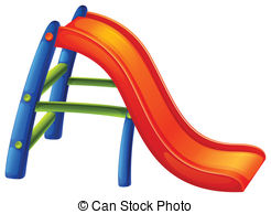 ... A colourful slide - Illustration of a colourful slide on a.