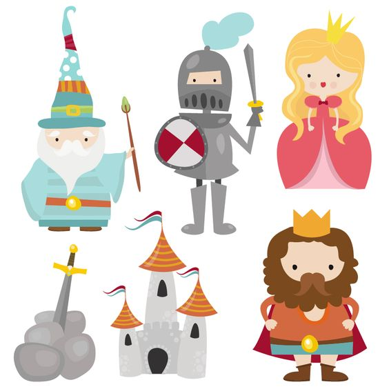 A #cute #Camelot #Characters #clipart set by Creative Clip Art Collectionu2026