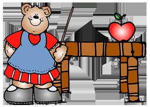 a cute little teacher bear .