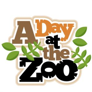 A Day at the Zoo scrapbook title SVG cut-A Day at the Zoo scrapbook title SVG cut files for scrapbooking silhouette cut files svgs-13