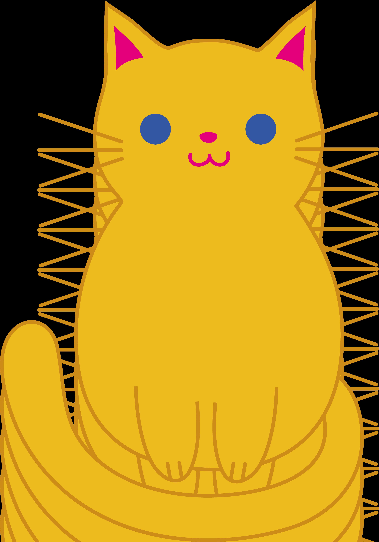 ... A fat cat clipart ...