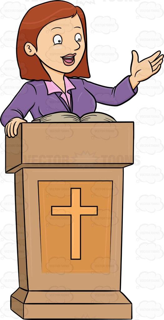 A female preacher telling the .-A female preacher telling the .-13