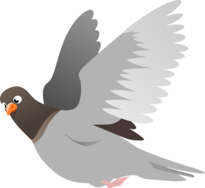 A Flying Pigeon Clip Art-A Flying Pigeon Clip Art-0