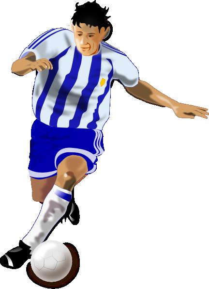 a football player clip art. PNG: small · medium · large