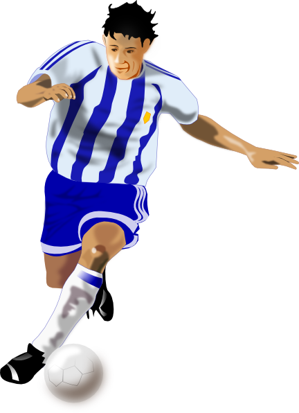 a football player clip art. PNG: small · medium · large