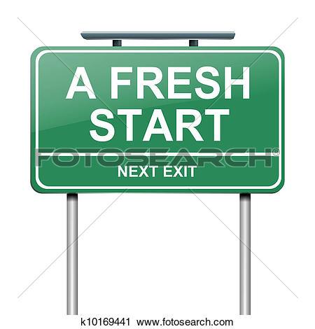 A fresh start. - Start Clip Art