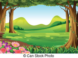 ... A Green Forest - Illustration Of A G-... A green forest - Illustration of a green forest-0