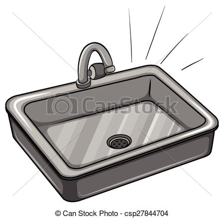 ... A Kitchen Sink On A White Background-... A kitchen sink on a white background-1