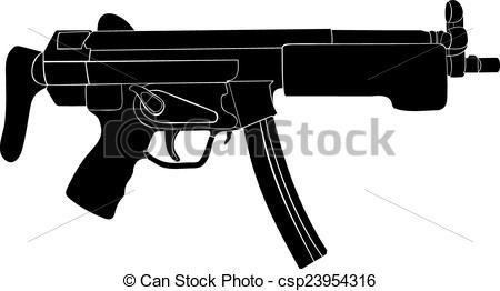 Machine Gun Clip Art