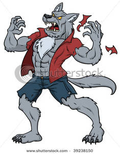 A Man Transformed Into A Werewolf - Clip-A Man Transformed Into a Werewolf - Clipart-2