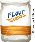 ... A packet of flour - Illustration of a packet of flour on a.