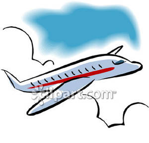 A Passenger Airplane Flying .-A Passenger Airplane Flying .-10