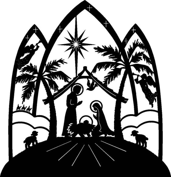 a pefect nativity for paper cutting... http://bestclipartblog clipartall.com