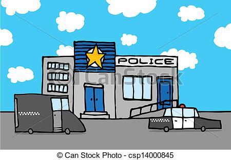A police station Clip Artby colematt3/2,400; Cartoon police station