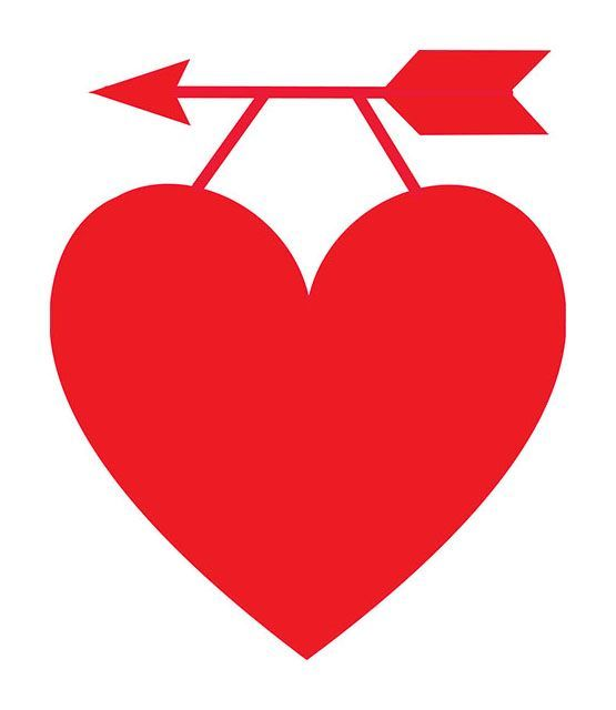 A Red Heart Hanging On An Arrow-A red heart hanging on an arrow-0