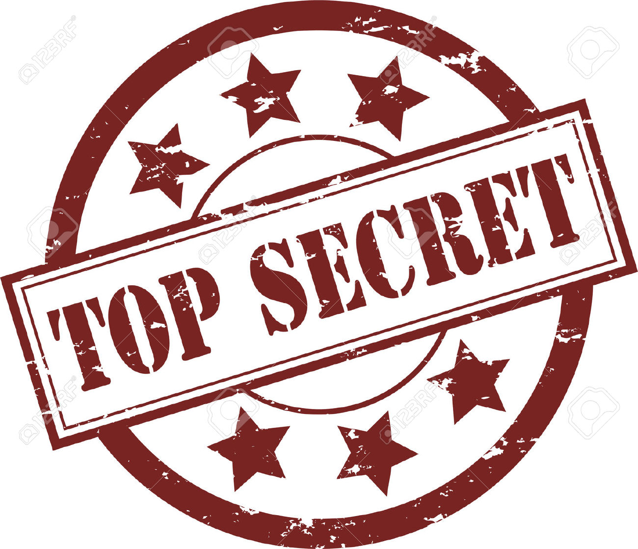 A Red Top Secret Rubber Stamp-A Red Top Secret Rubber Stamp-1