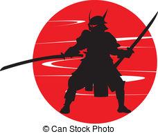 A samurai in silhouette. Samurai. Clipartby ...