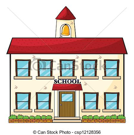 ... A school building - illustration of a school building on a.