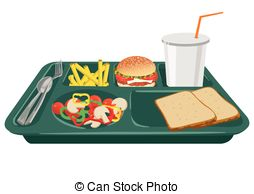 ... A School Lunch Tray With Copy Space -... A school lunch tray with copy space - A school lunch tray on.-0